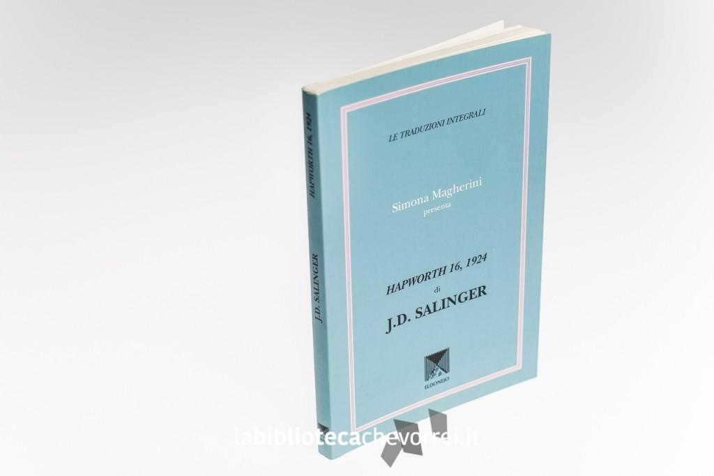 """La copertina dell'edizione italiana pirata di J.D. Salinger """"Hapworth 16, 1924""""."""