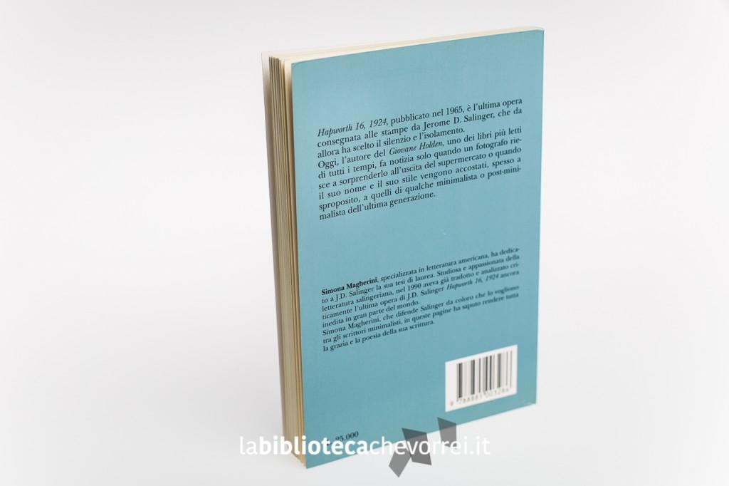 """Retro copertina dell'edizione italiana pirata di J.D. Salinger """"Hapworth 16, 1924""""."""