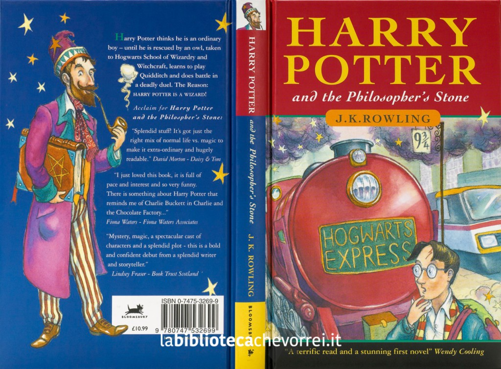 Harry Potter and the Philosopher's Stone - prima edizione, prima stampa.