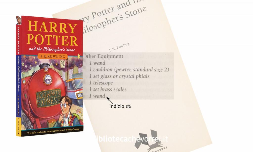 Dettaglio della pagina 53 della prima edizione di Harry Potter.