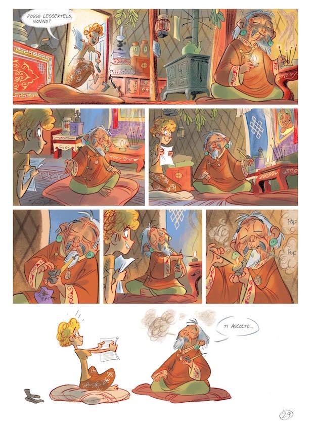 """Una delle pagine del volume """"Viola giramondo""""."""