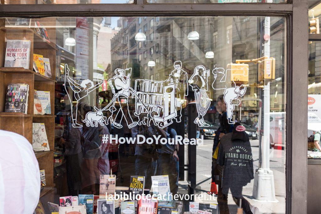 Vetrina del negozio STRAND di New York.