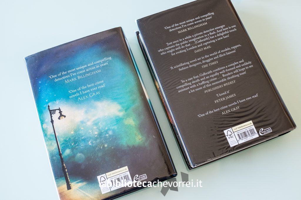 Retro copertine diverse per la prima edizione e la ristampa.