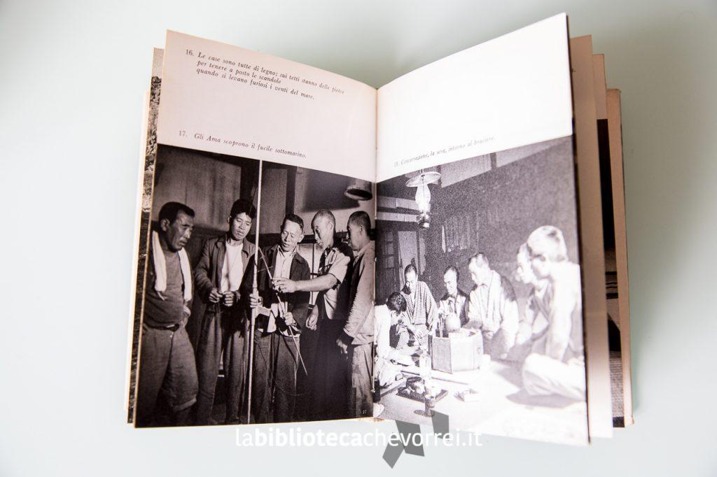 Interno del libro: fotografie in bianco e nero della comunità Ama.