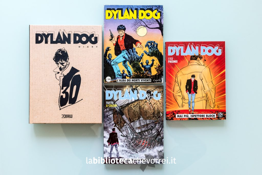Volume che festeggia i 30 anni dell'Indagatore dell'incubo, numero 1 originale di Dylan Dog e due volumi con le copertine di Angelo Stano.
