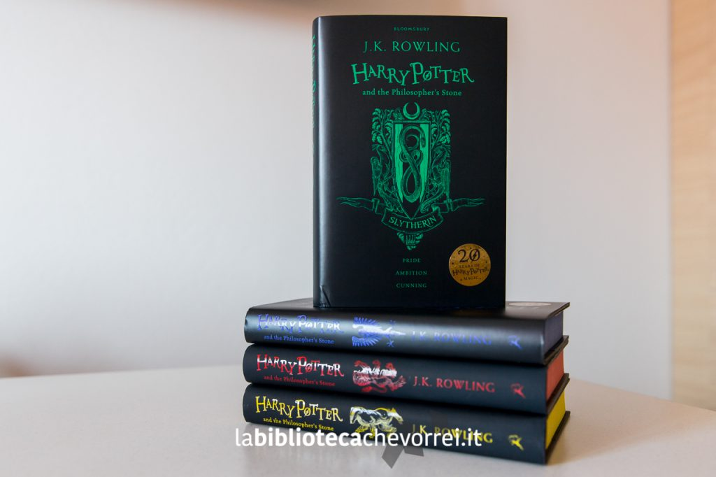 """Harry Potter and the Philosopher's Stone"" edizione Slytherin (Serpeverde in italiano)."