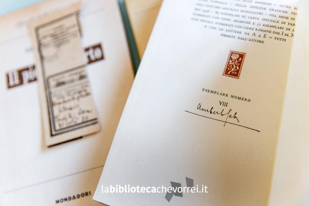 """Rara edizione della """"Storia e cronistoria del Canzoniere"""" di Umberto Saba numerata e autografata."""