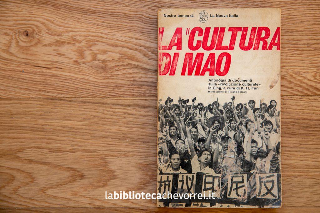 """La copertina del libro """"La cultura di Mao"""" con la prefazione di Tiziano Terzani. (1968 La Nuova Italia)."""