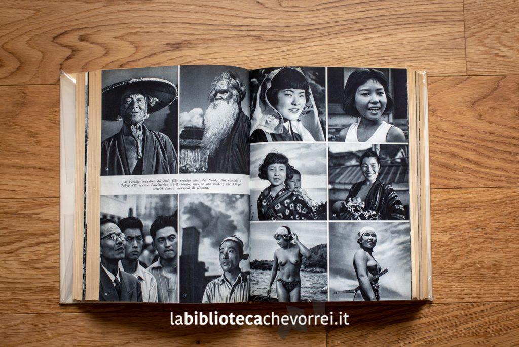 Inserto fotografico nella 1a edizione italiana di Ore giapponesi di Fosco Maraini.
