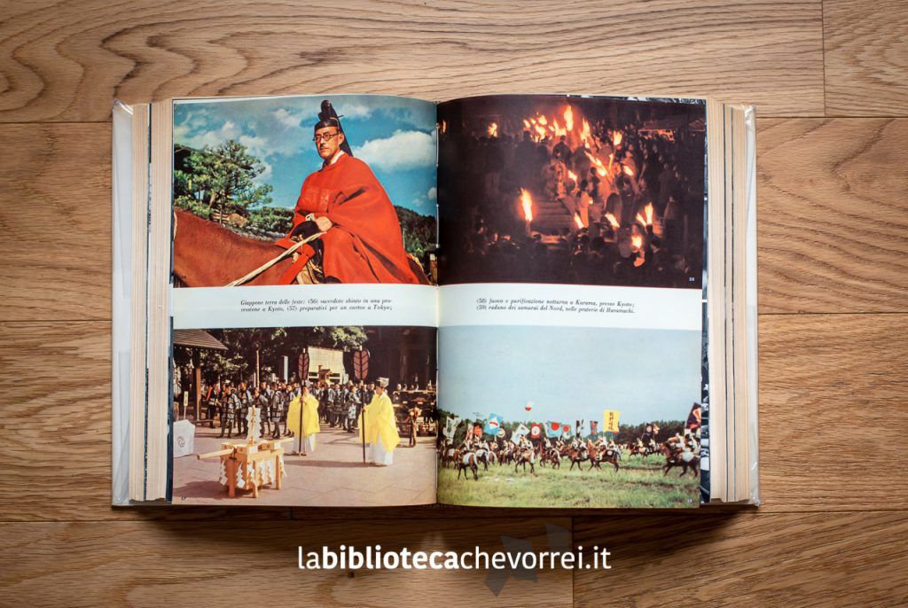 Inserto fotografico a colori nella 1a edizione italiana di Ore giapponesi di Fosco Maraini.