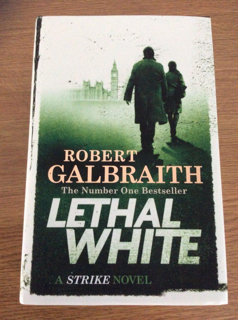 """La copertina del nuovo atteso libro di J.K. Rowling """"Lethal White"""". Ed. inglese. (Fonte: eBay)"""