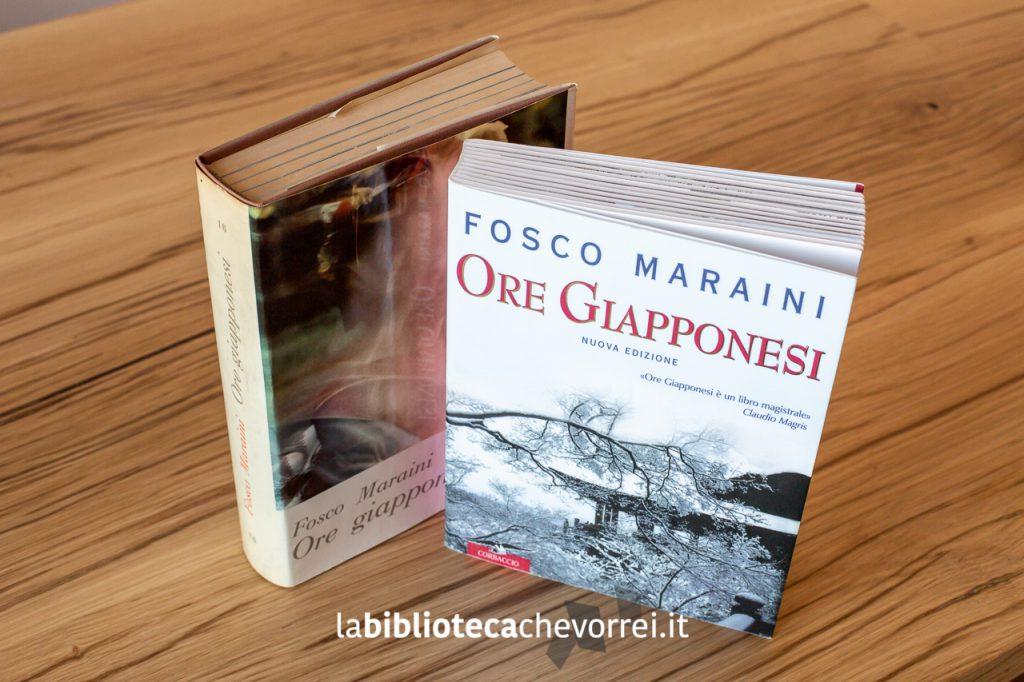 1a edizione italiana di Ore giapponesi di Fosco Maraini e a fianco la nuova edizione ampliata.