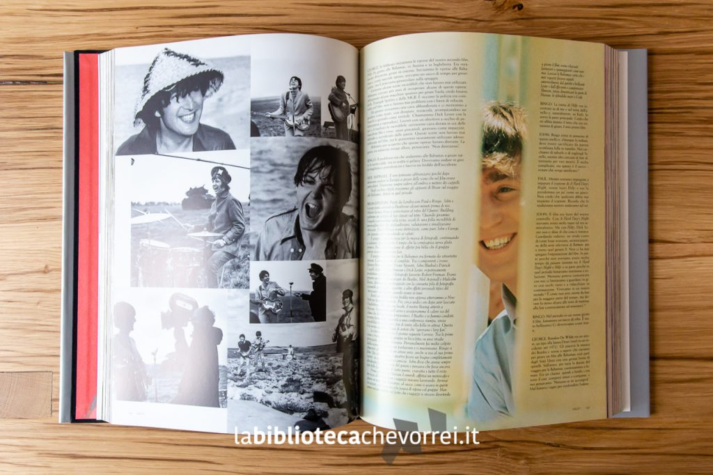 Pagine interne del libro The Beatles Anthology, Rizzoli, 2000.