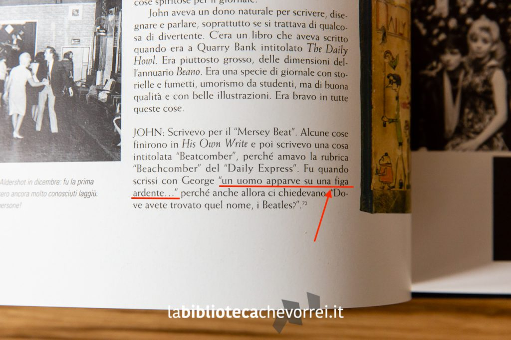 Pagina 62. La famosa traduzione errata del termine Flaming Pie. The Beatles Anthology, Rizzoli, 2000.