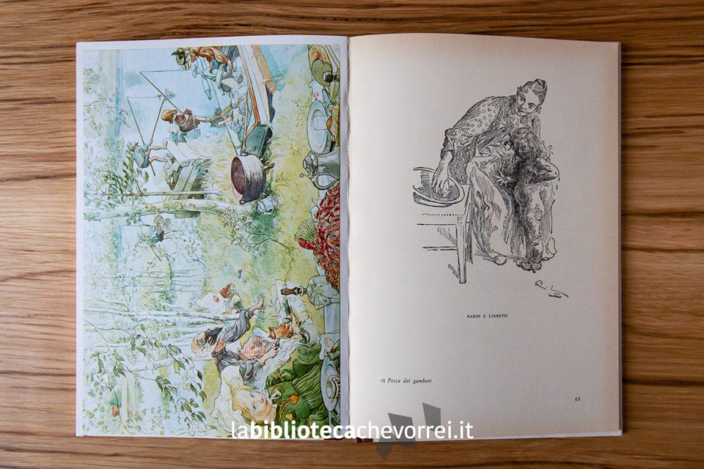 """Alcune delle illustrazioni contenute nel libro di Carl Larsson """"La casa al sole""""."""