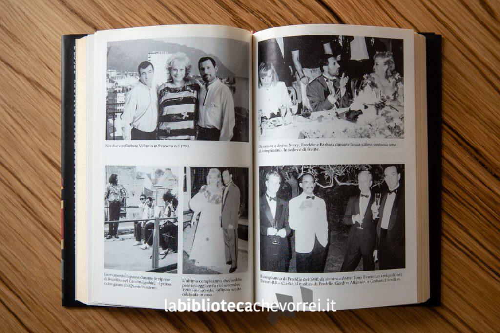 """Una pagina interna della prima edizione del libro """"I miei anni con Freddie Mercury"""" stampato dalla Mondadori nel 1994."""