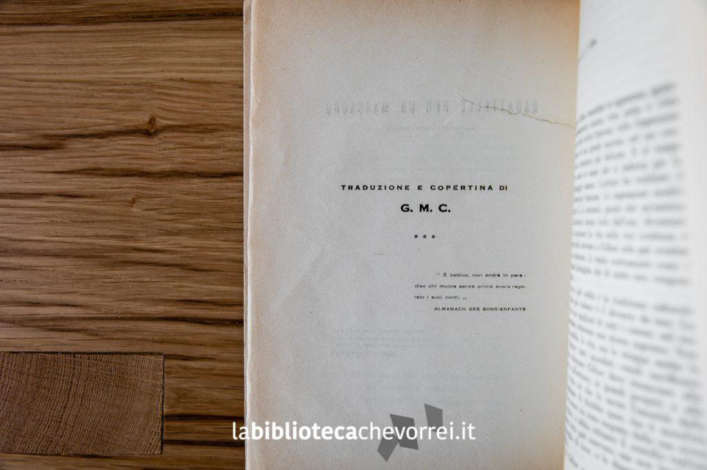 La casa editrice Robespierre ha affidato la traduzione a un misterioso G.M.C..