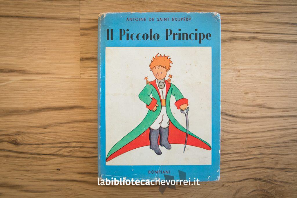 La copertina della prima edizione italiana de Il piccolo principe. Bompiani, 1949.