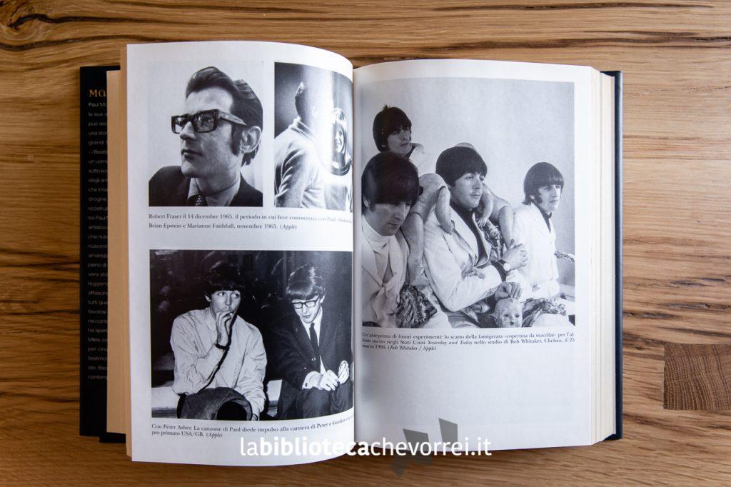 """Pagine interne della prima edizione italiana della biografia di Paul McCartney """"Many years from now - Ricordo di una vita"""", Rizzoli 1997."""