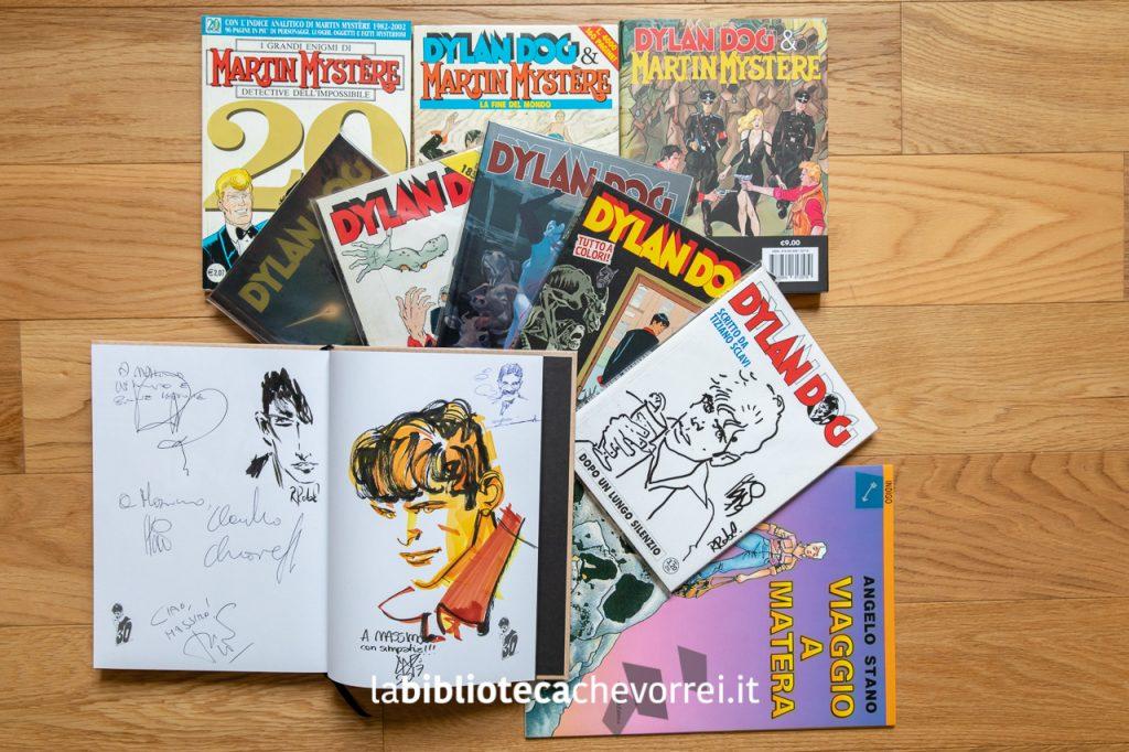 Fumetti Bonelli: Martin Mystère e Dylan Dog. Sketch di autori Bonelli.