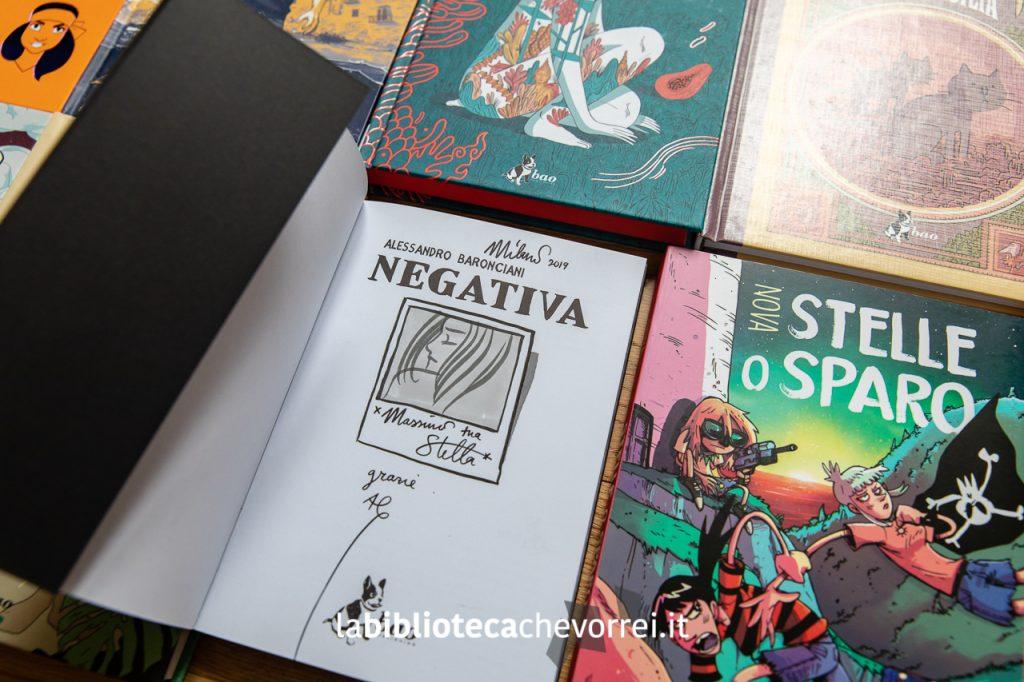 """Sketch di Alessandro Baronciani sul volume """"Negativa"""". Bao Publishing."""