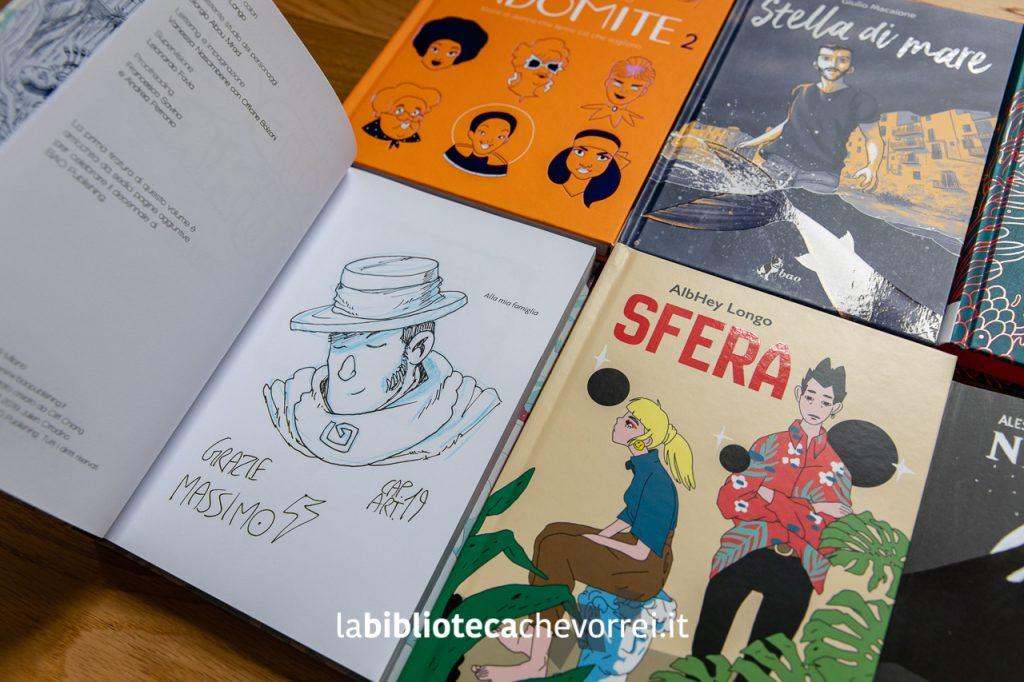 "Sketch di Capitan Artiglio sul volume ""Kids with guns 2"". Bao Publishing."