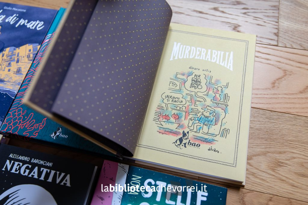 "Sketch di Àlvaro Ortiz sul volume ""Murderabilia"". Bao Publishing."