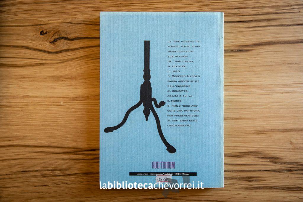 Retro copertina del libro You tourned the tables on me di Roberto Masotti.