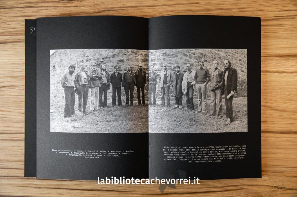 Pagine interne del volume Jazz AREA di Roberto Masotti. Edito dalla casa editrice Seipersei.