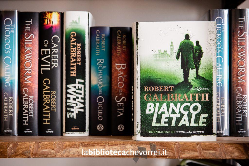 Prime edizioni inglesi e italiane dei libri di Robert Galbraith (pseudonimo di J.K. Rowling).