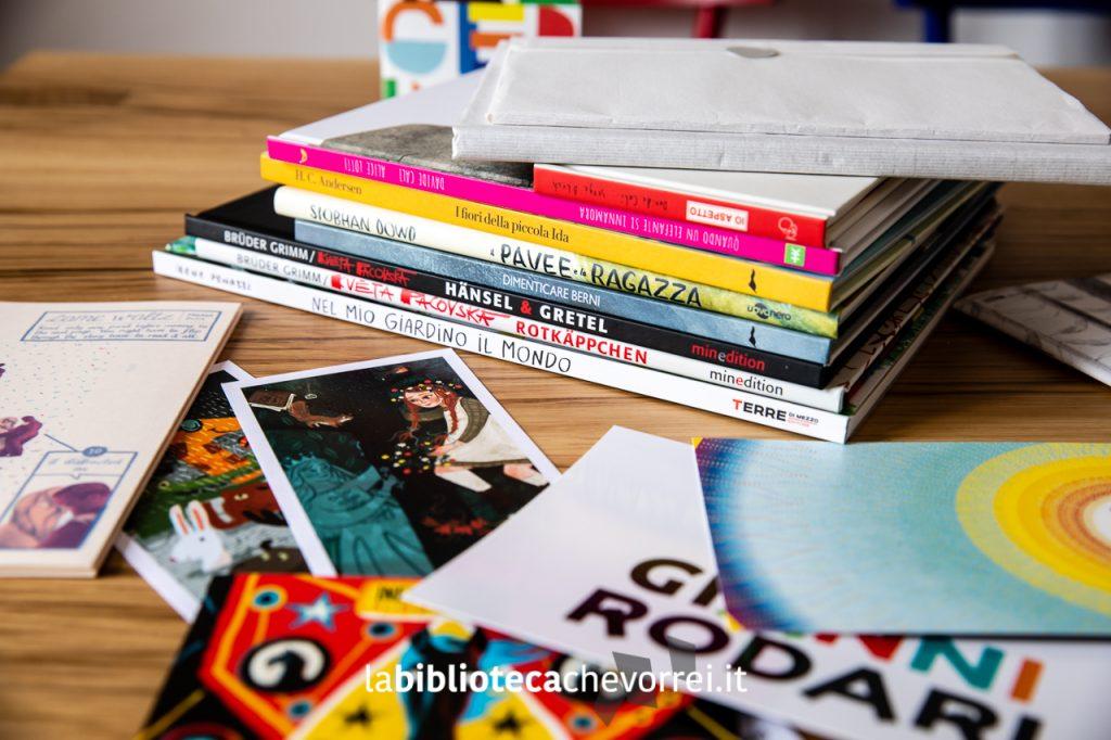 Alcuni degli acquisti alla Fiera del libro per ragazzi d Bologna e tantissimo materiale informativo.