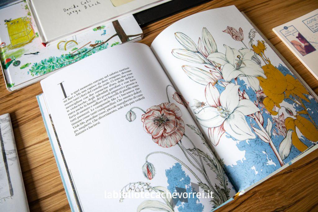 """Una delle bellissime illustrazioni di Daniela Iride Murgia presenti nel libro """"I fiori della piccola Ida"""". Edizioni Corsare, 2018."""
