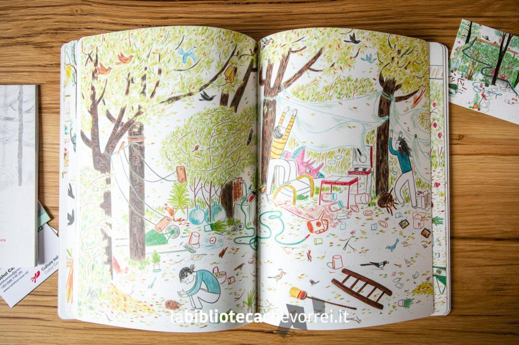 """Pagine interne del libro d'esordio di Irene Penazzi: """"Nel mio giardino il mondo""""."""