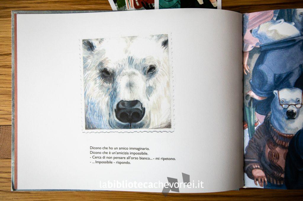 """Pagina interna del libro """"Dimenticare Berni"""" dell'illustratrice spagnola Eva Sánchez Gómez. Edizioni Corsare, 2019."""