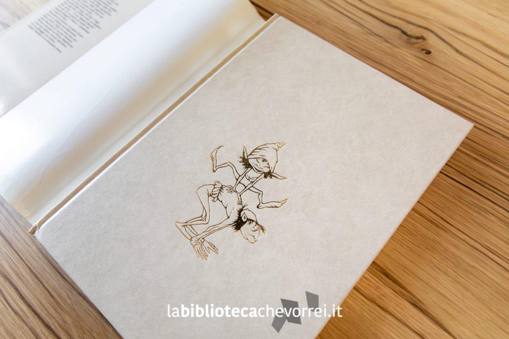 """Stampa in vernice dorata sulla copertina rigida della prima edizione del libro """"Fate"""" di Froud-Lee. Rizzoli, 1979."""