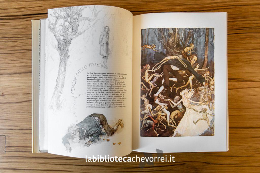 """Illustrazioni interne della prima edizione del libro """"Fate"""" di Froud-Lee. Rizzoli, 1979."""