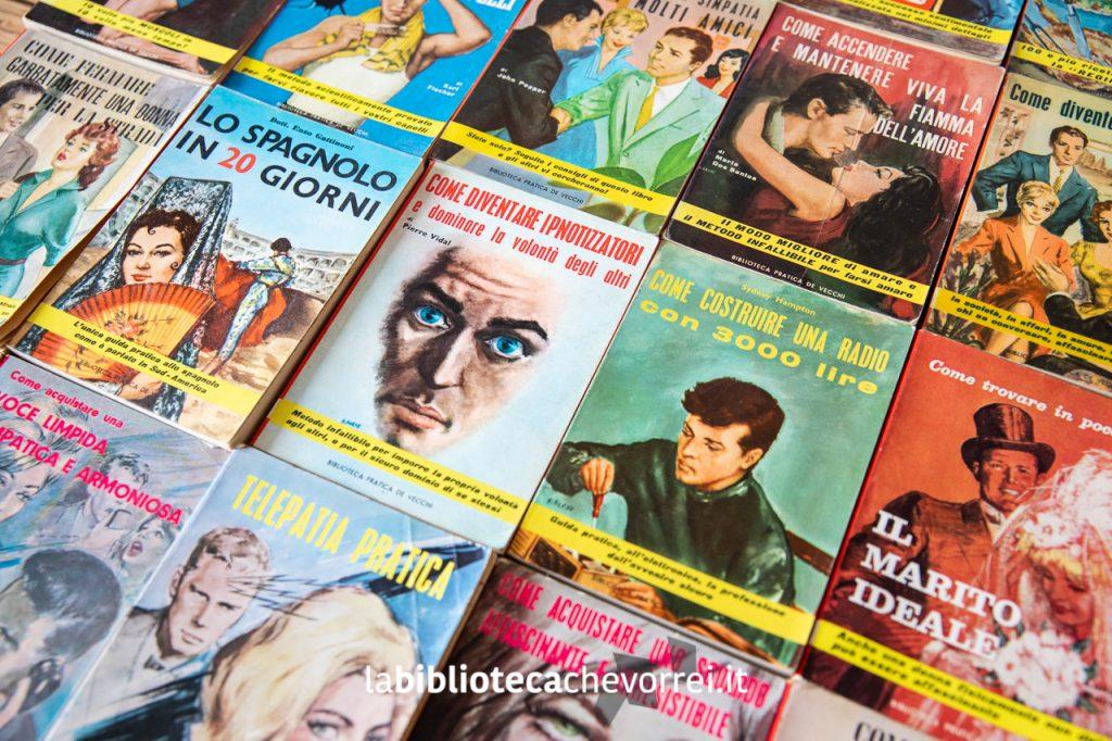 """Selezione di alcuni volumi della collana """"Biblioteca Pratica De Vecchi""""."""