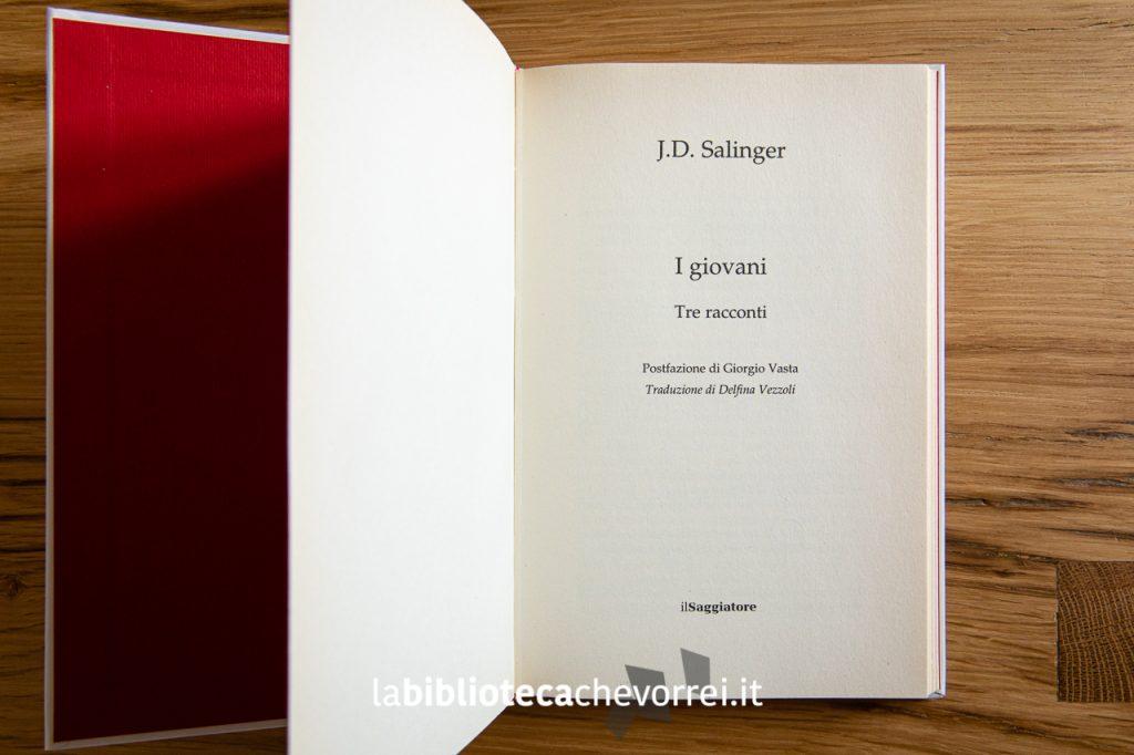 """Indicazione della traduttrice Delfina Vezzoli nel libro di J.D. Salinger """"I giovani. Tre racconti."""" Pubblicato in Italia nel 2015 e mandato al macero nel 2017."""