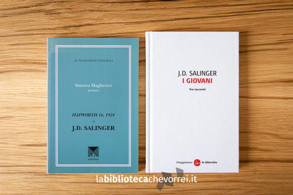 Nella stessa immagine i due libri di Salinger che hanno infranto di diritti d'autore e quindi ritirati e condannati al macero.