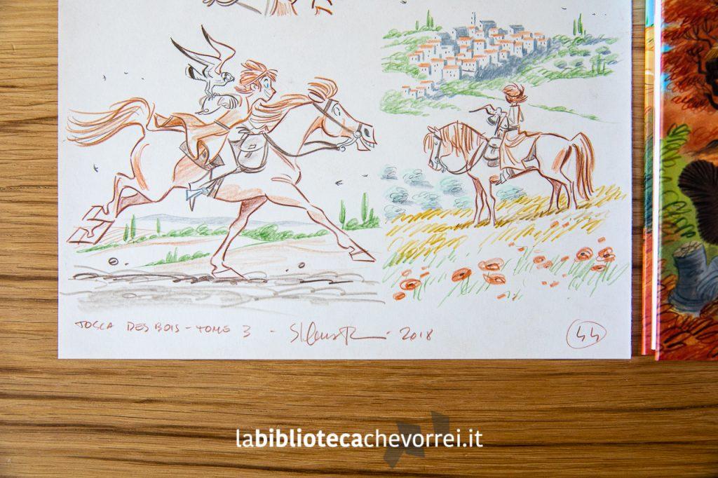 Particolare della tavola originale di Stefano Turconi messa all'asta.