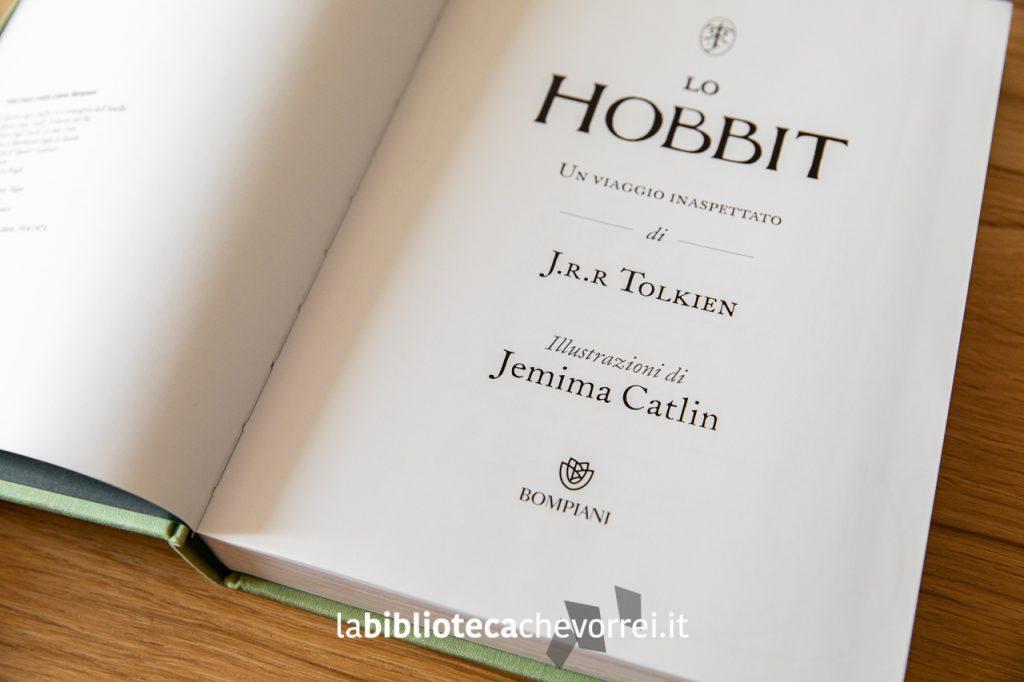 Lo Hobbit di J.R.R Tolkien illustrato da Jemima Catlin, 1a edizione, Bompiani ottobre 2013.