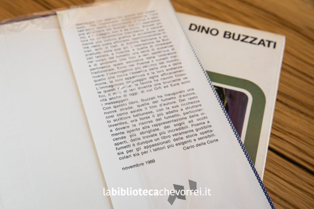 Aletta interna della sovraccoperta con uno scritto di Carlo della Corte datato novembre 1969. È l'unico riferimento a una data che ne indica la ristampa.
