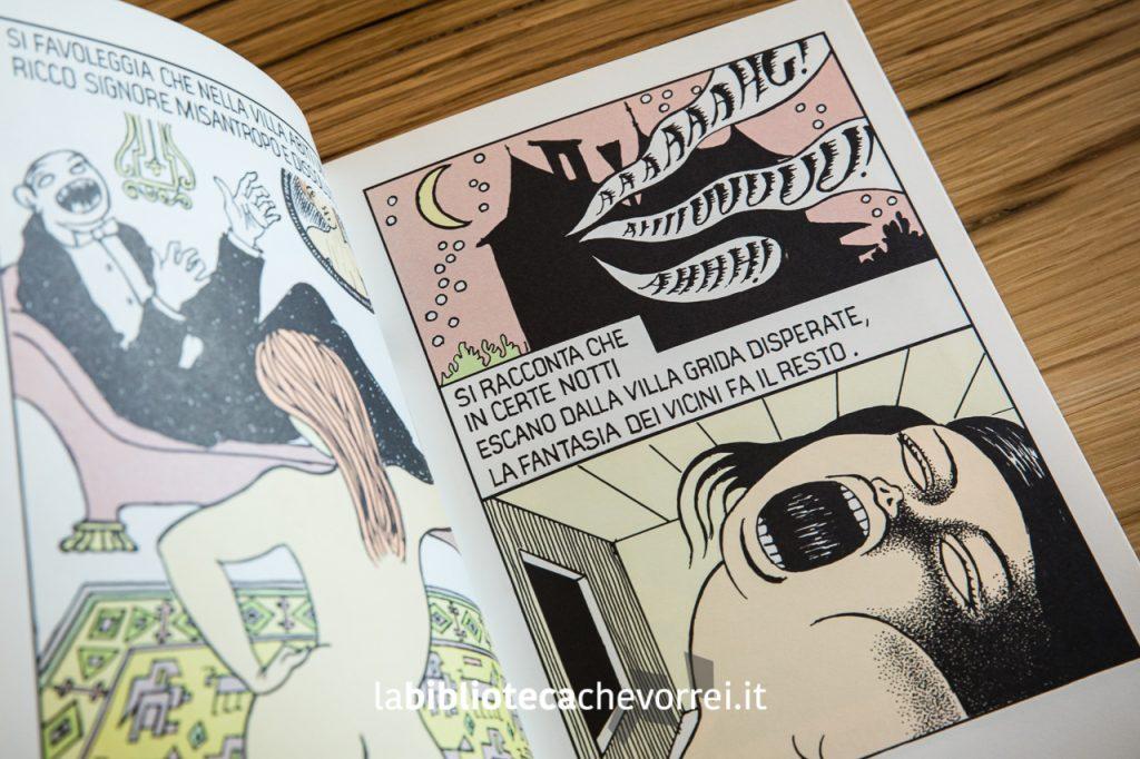 """Pagina interna di """"Poema a fumetti"""" di Dino Buzzati a confronto. Mondadori, 1969."""