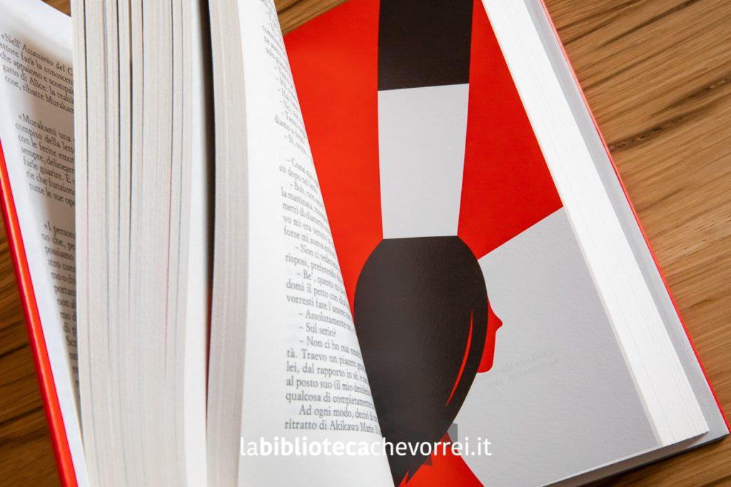 """Pagine interne dell'edizione speciale de """"L'assassino del Commendatore"""" di Haruki Murakami, copertina rossa. Einaudi 2019."""