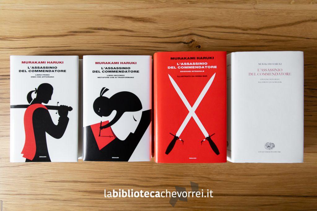 """Ecco tutte le edizioni fino a oggi pubblicate de """"L'assassinio del Commendatore"""" di Haruki Murakami."""