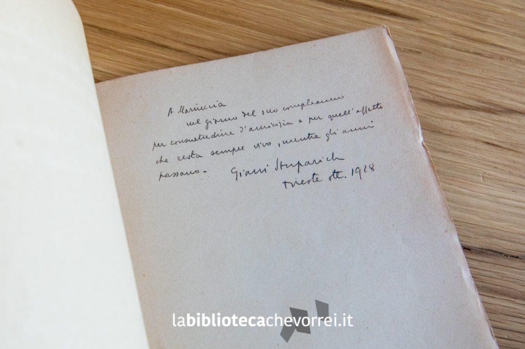 Dedica di Giani (Giovanni) Stuparich a Maria Prebil.
