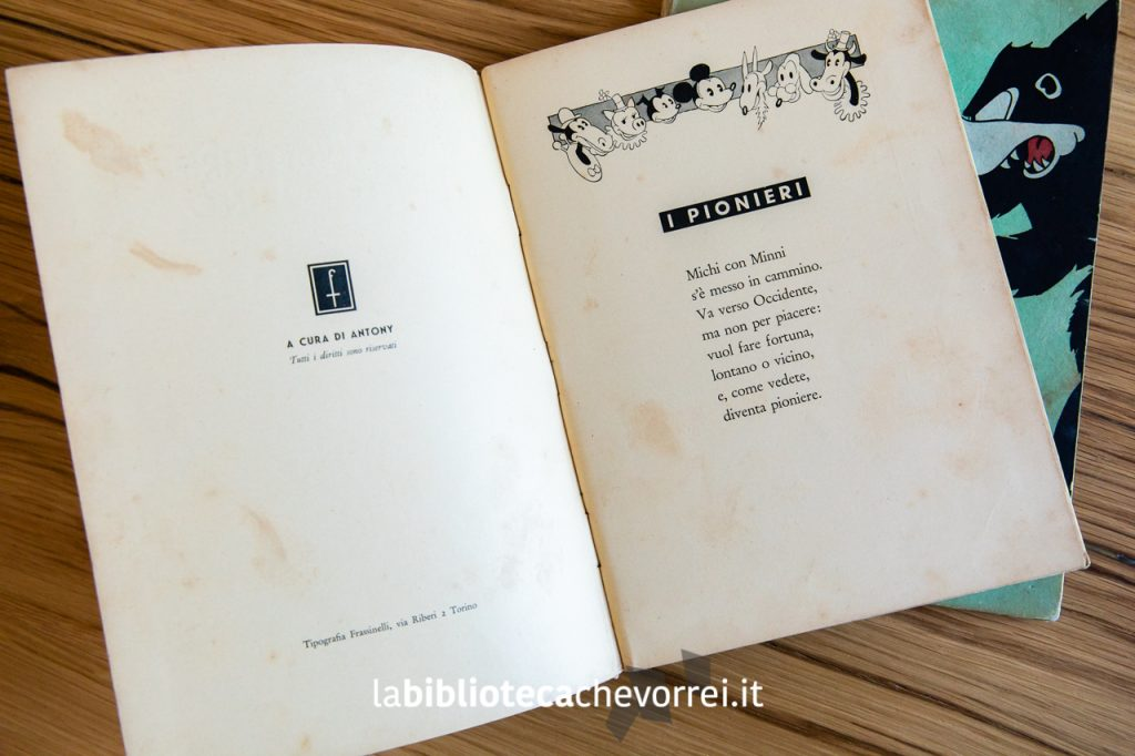 """Prima pagina del primo numero de """"Le avventure di Topolino"""", Frassinelli, 1933."""