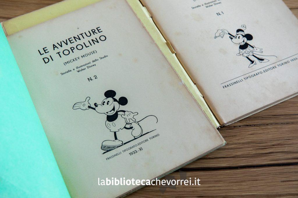 """Frontespizio dell'edizione del 1933 de """"Le avventure di Topolino N.2"""", Frassinelli."""