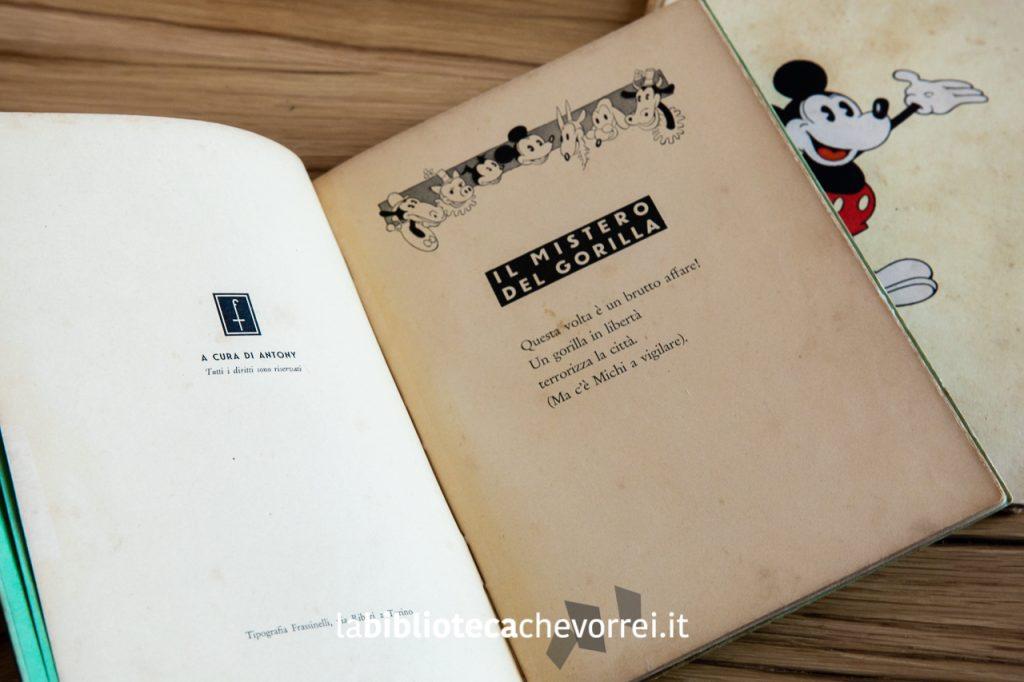 """Prima pagina del secondo numero de """"Le avventure di Topolino"""", Frassinelli, 1933."""
