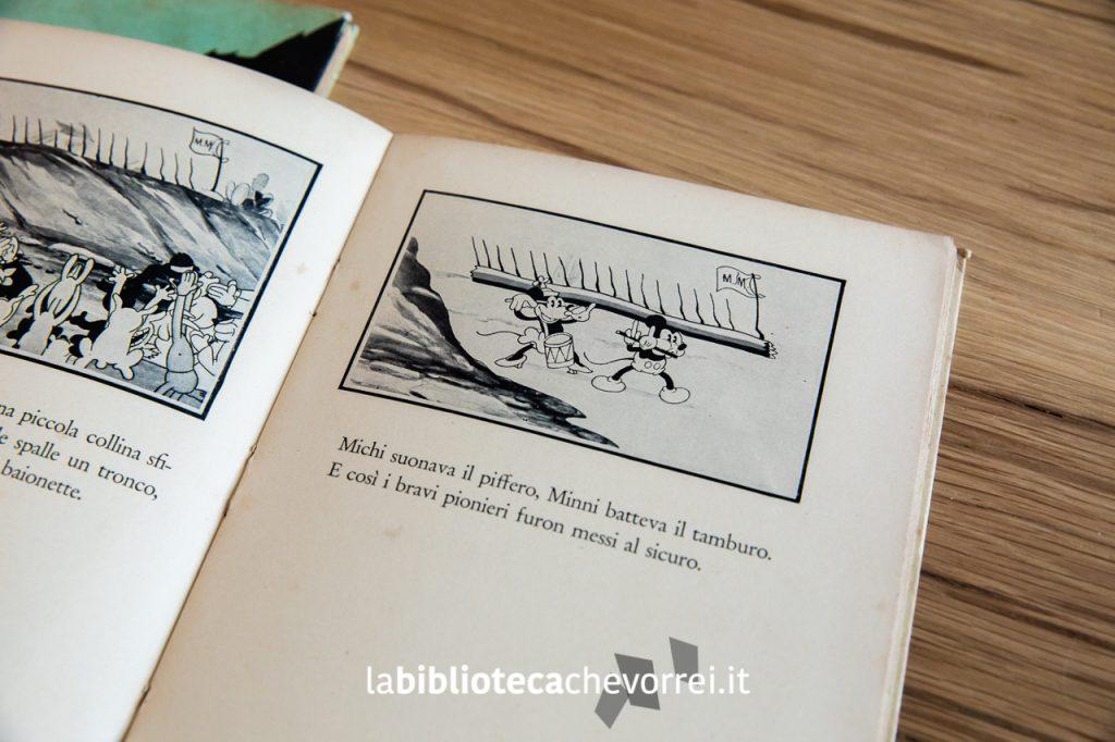 """Pagina interna del primo volume de """"Le avventure di Topolino"""", Frassinelli, 1933."""